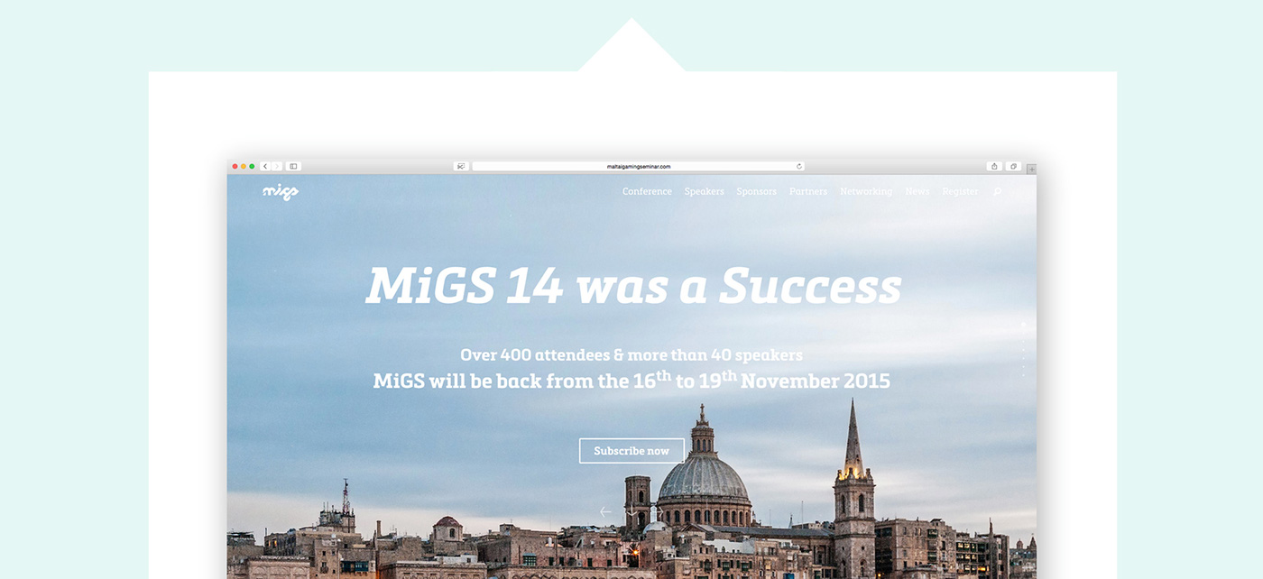 Malta iGaming Seminar website frame 1