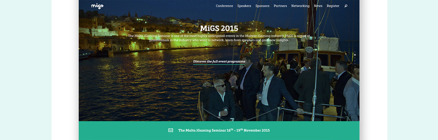Malta iGaming Seminar website frame 2