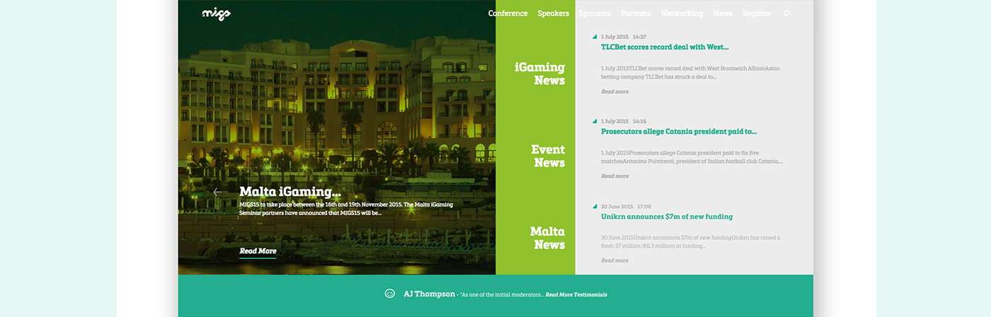 Malta iGaming Seminar website frame 5